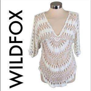 👑 WILDFOX CROCHET SWIM COVER UP 💯AUTHENTIC